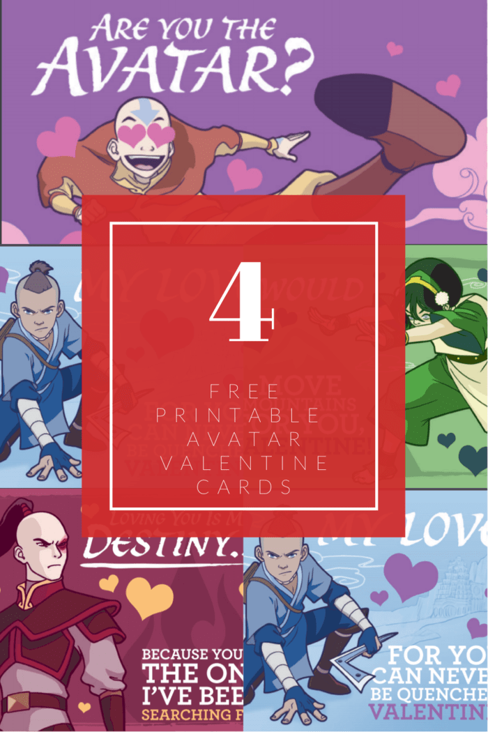 Avatar fans can celebrate Valentines Day with these free printable Valentines from Nickelodeon's critically-acclaimed, Emmy® award-winning series Avatar: The Last Airbender. #freeprintablevalentines #freeprintable #avatar #avatarthelastairbender