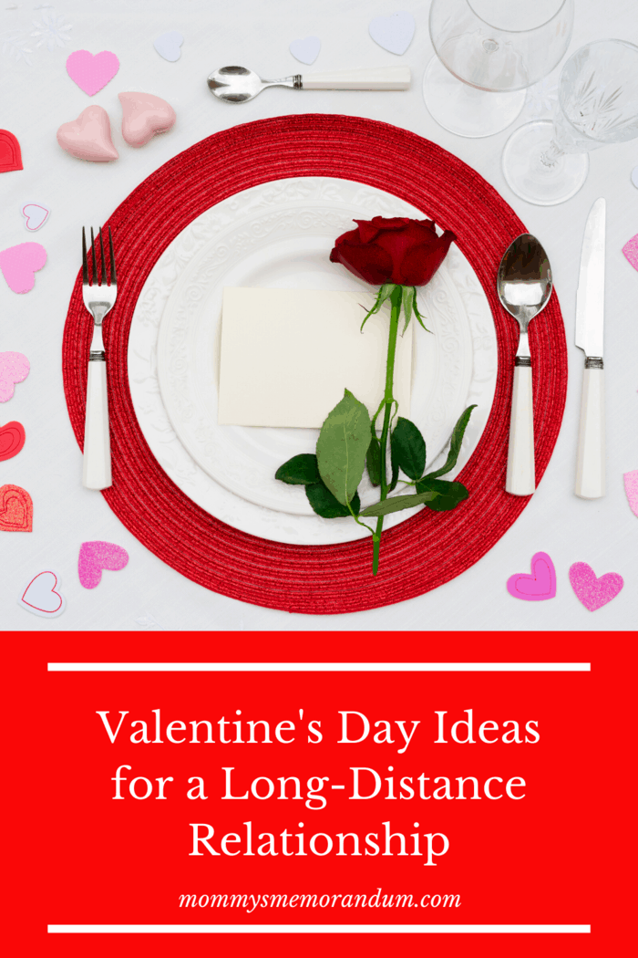 Valentines Setting for One with red rose on plate