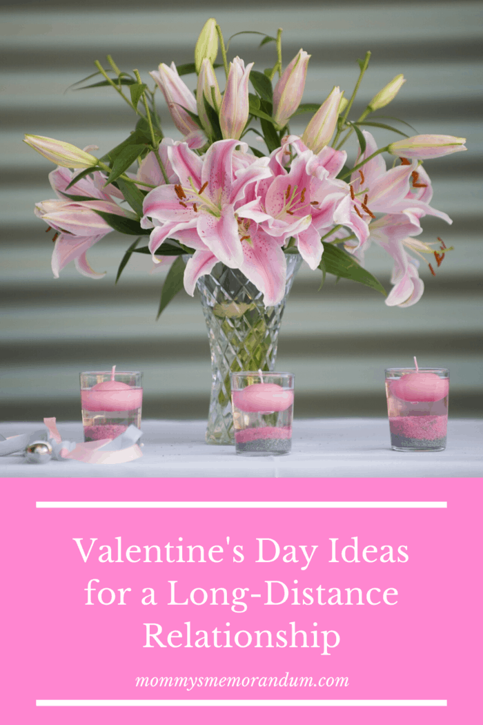 bouquet of pink lilies with matching tea light candles