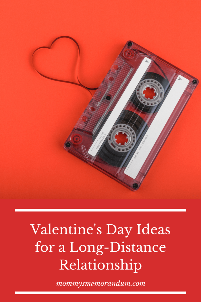 mix tape cassette for someone you love with tape pulled out and shaped like a heart