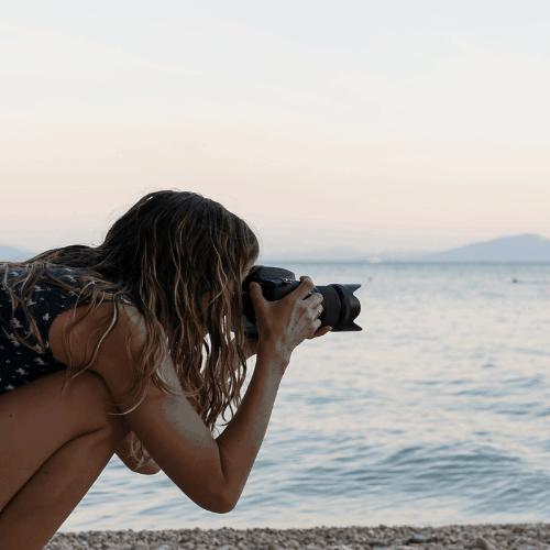 mother taking photos