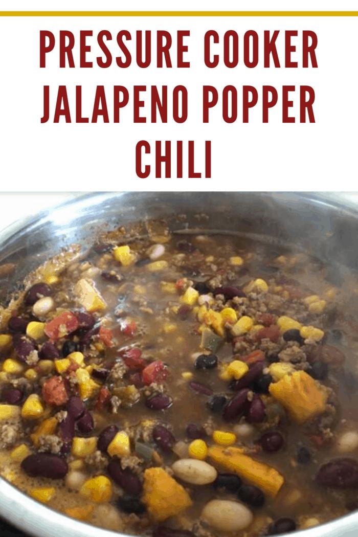pressure cooker jalapeno popper chili.