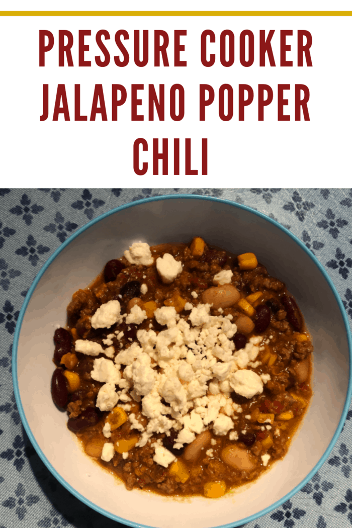 This Pressure Jalapeno Popper Chili in bowl.