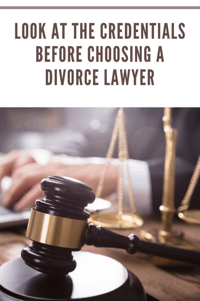 divorce lawyer working on divorce case