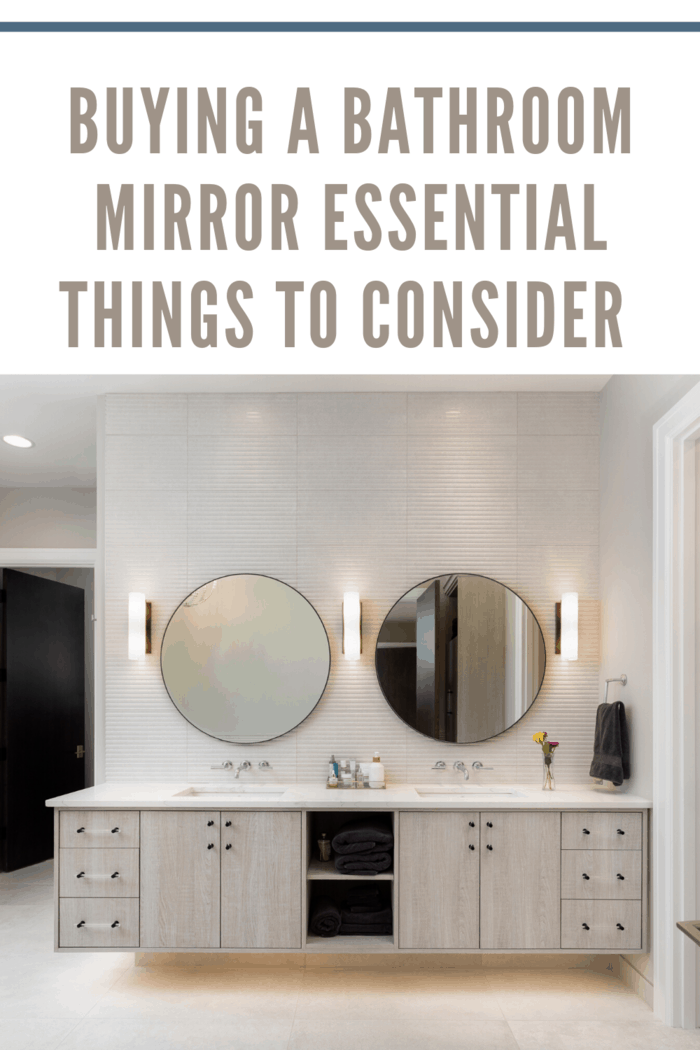 Thus, let us now glance through a few points that can help you choose the right mirror for your bathroom.