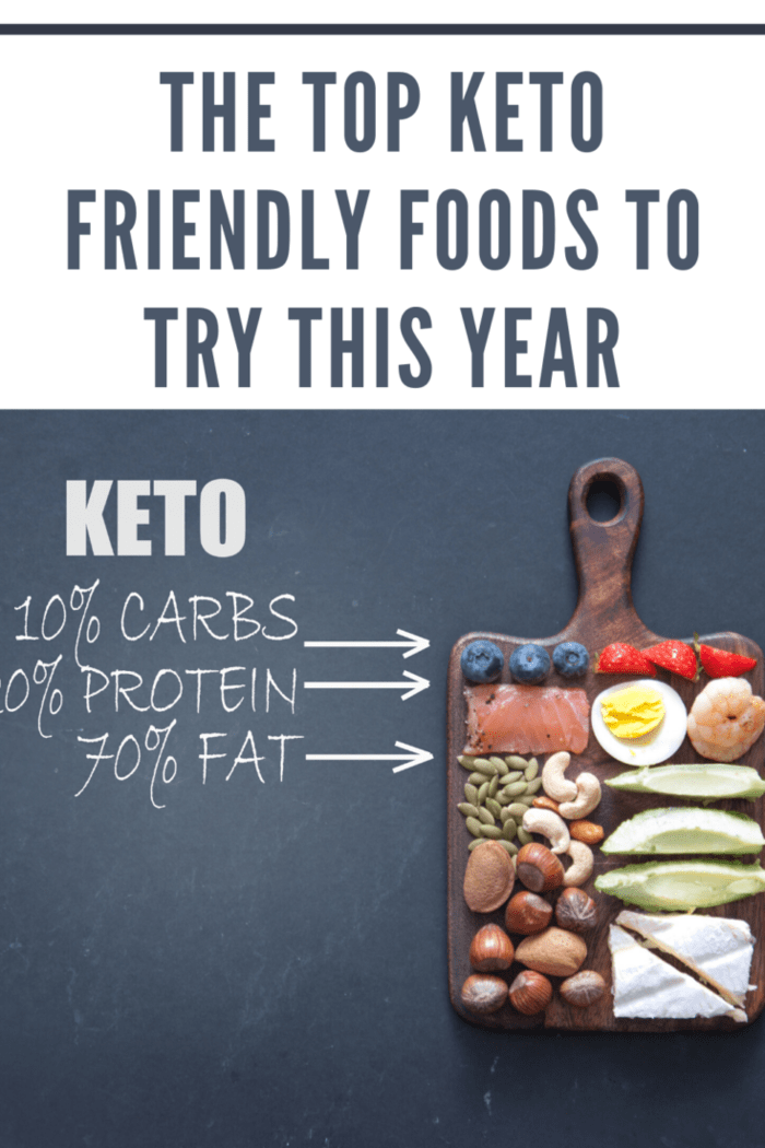 keto diet with top keto foods on cutting board
