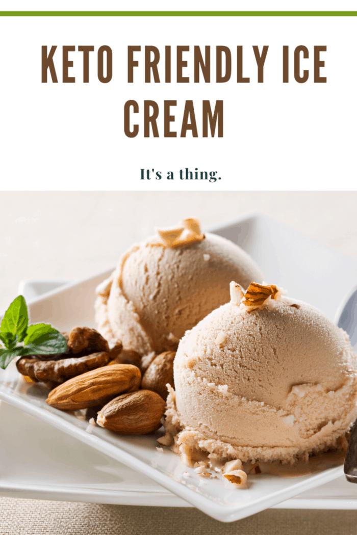 scoops of keto friendly ice cream