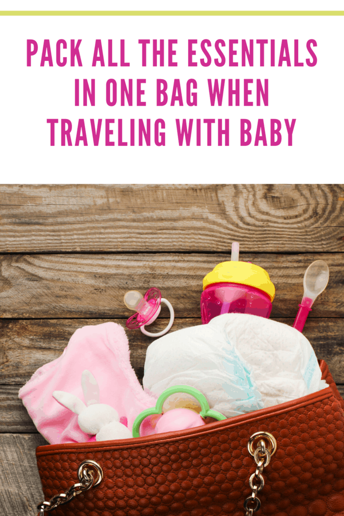 one bag with all of baby's essentials