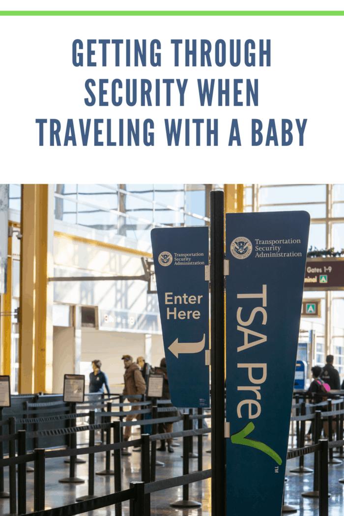 TSA signs at airport