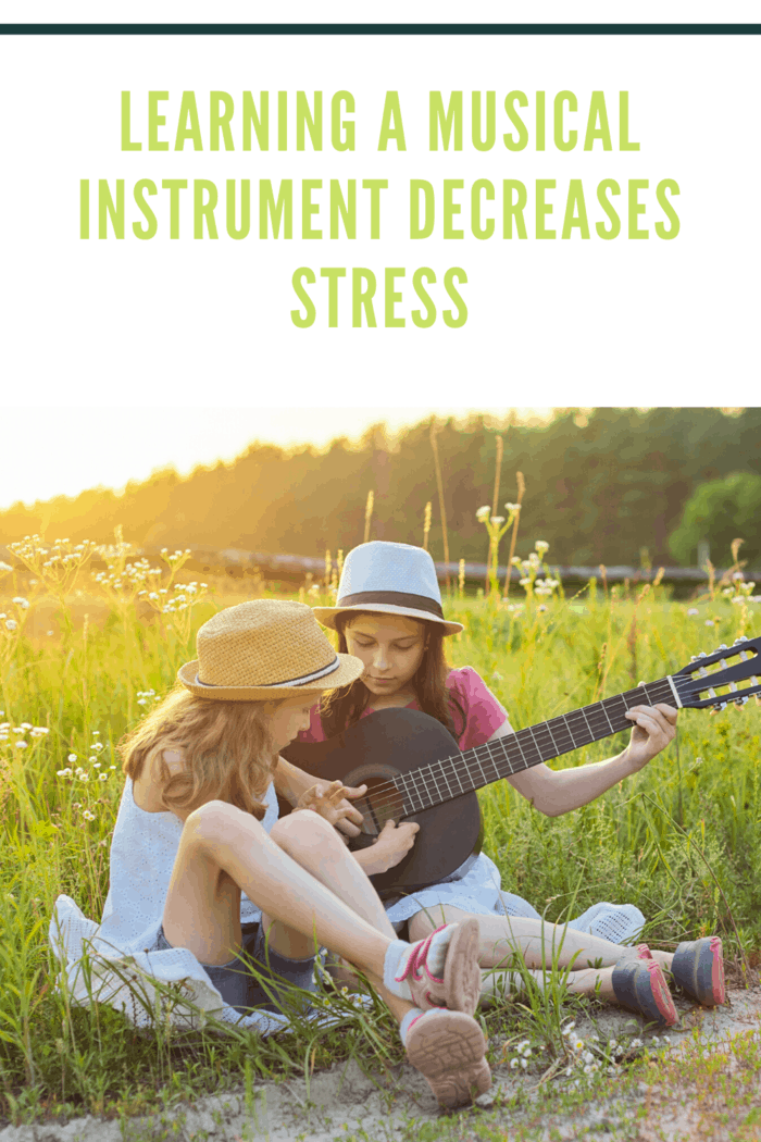 teenagers sitting on grass playing guitar