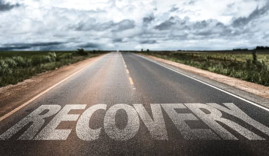 recovery painted on road