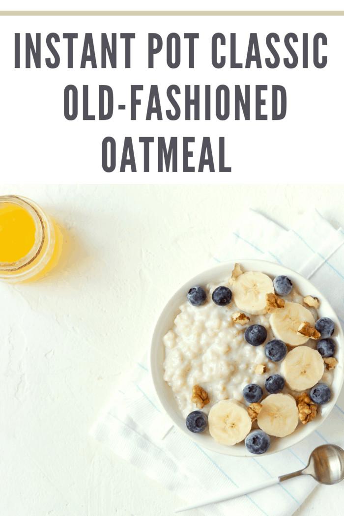 Classic Old-Fashioned Oatmeal