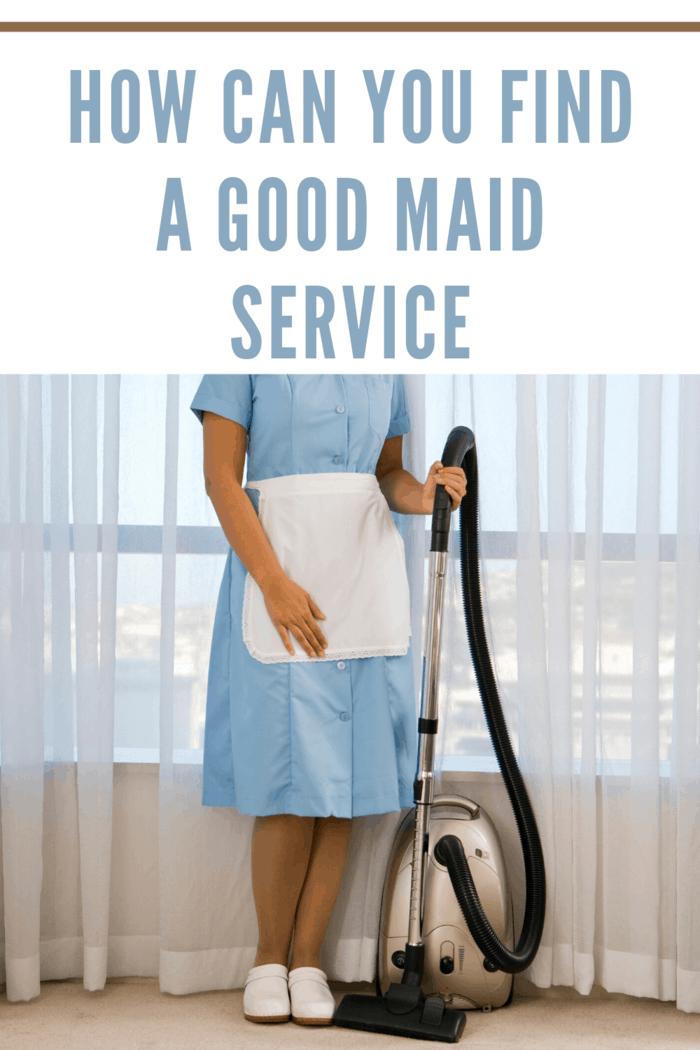 maid service staff vacuuming living room