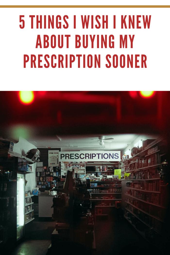 dark pharmacy with prescription sign