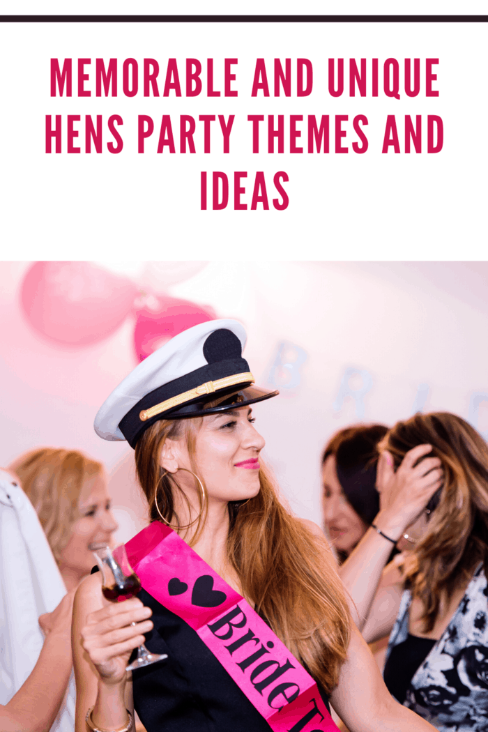 hens party with bride in captain hat themed costume