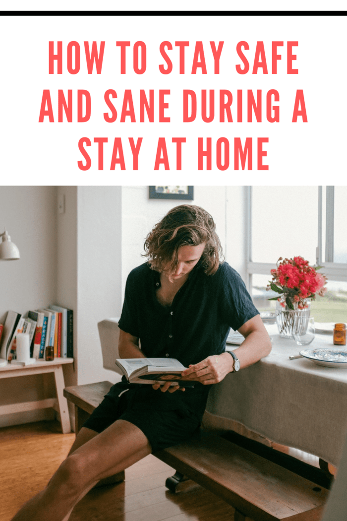 woman staying at home reading
