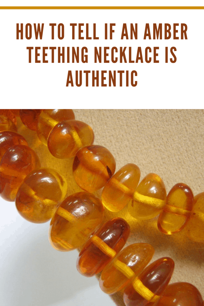 baltic amber teething necklace close up