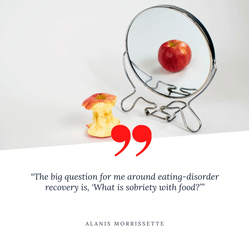 quote by Alanis Morrissette on anorexia