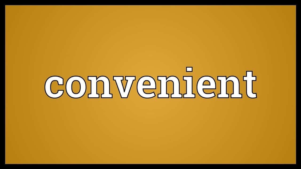 word convenient on mustard yellow background