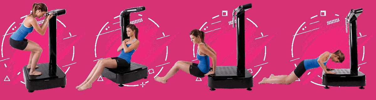 woman exercising on a vibration machine