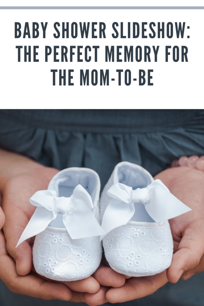 husband and wife expecting a baby, holding white baby shoes in the palm of their hands