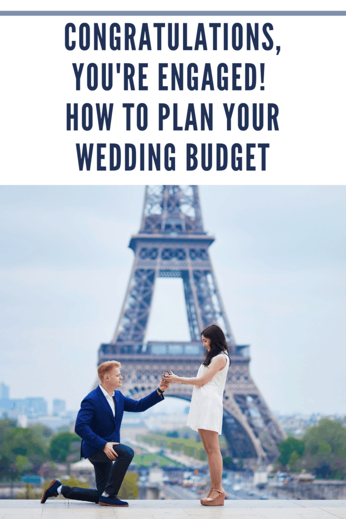 Romantic engagement in Paris couple ready to plan wedding budget
