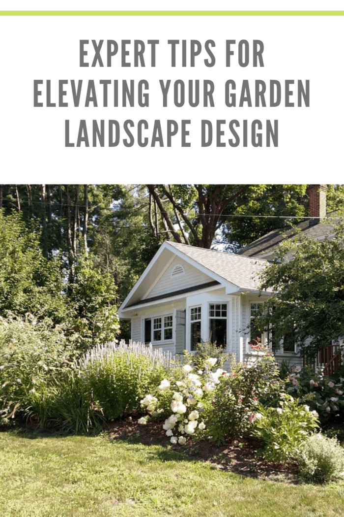 white house that used expert tips for elevating your garden landscape design