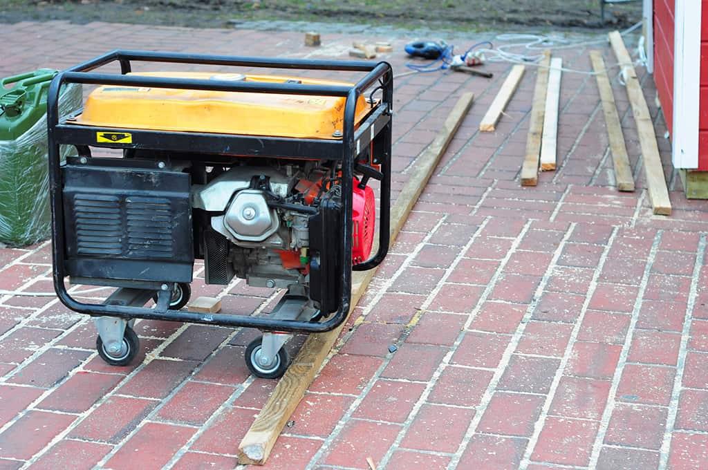 Standby generator for repair hurricane damage. Diesel generator for house.