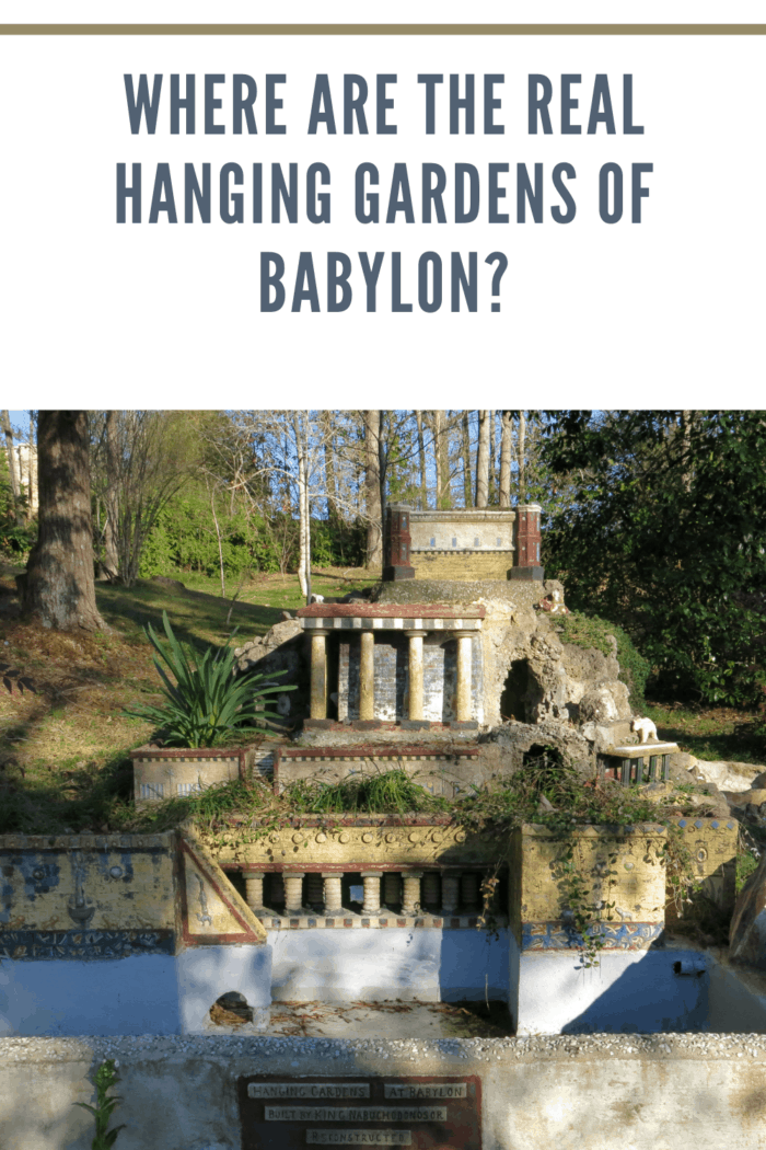 Miniature reproduction of the Hanging Gardens at Babylon by Brother Joseph Zoettl (1878-1961), a Benedictine monk of St. Bernard Abbey in Cullman, Alabama at the Ave Maria Grotto.