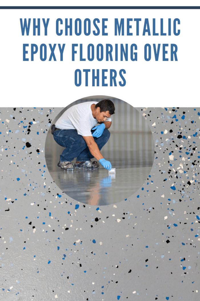 Speckled floor after choosing metallic epoxy flooring over others