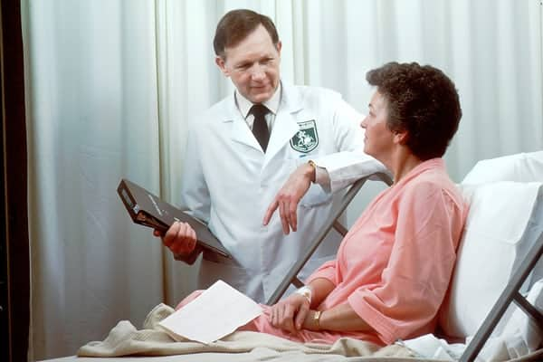 woman getting advice from expert part time retired physician