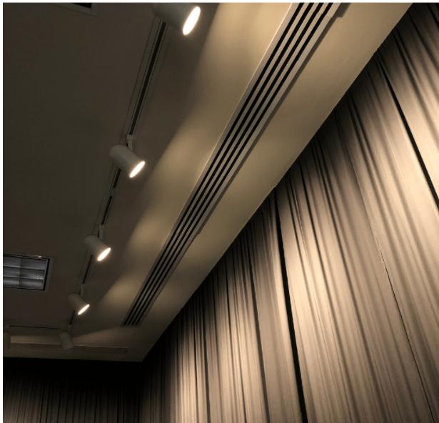 Home theatre curtain light