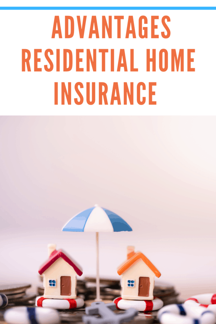 Home insurance concept. House model in lifebuoys on coins stack. Securing large value of home by applying an insurance, insured home safe. risk as security from hazards like flooding fire.