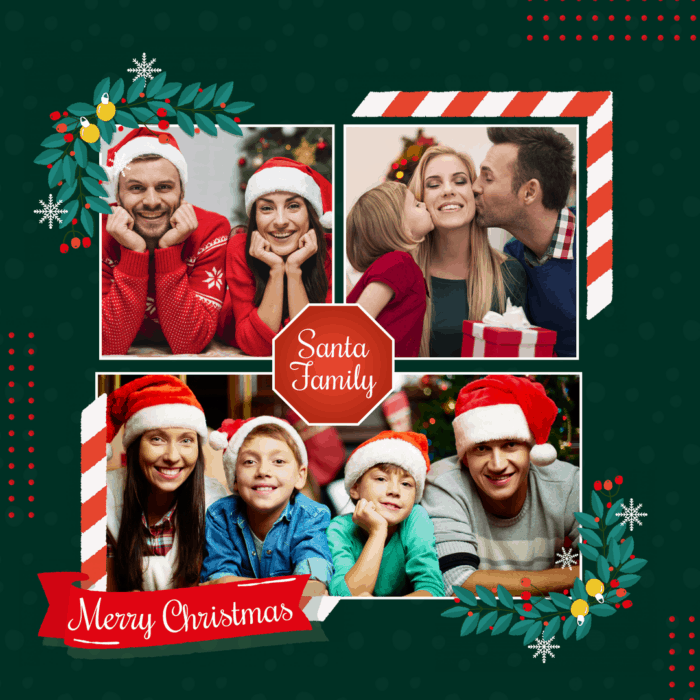 Copy of Christmas Christmas collage family collage