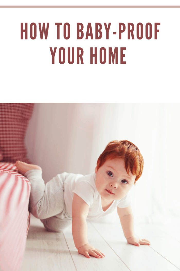 cute toddler baby getting off the bed, crawling at home