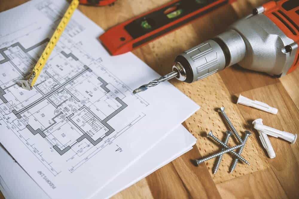tools with blueprints for home