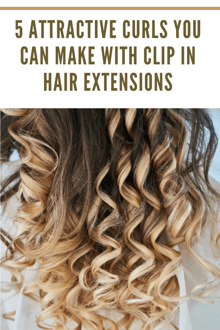 Barrel curls are one of 5 Attractive Curls You Can Make With Clip in Hair Extensions