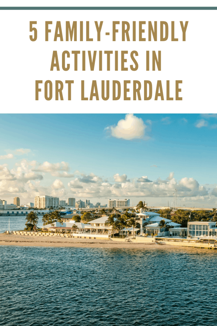 Inter-coastal waterway and cruise port in Fort Lauderdale, Florida