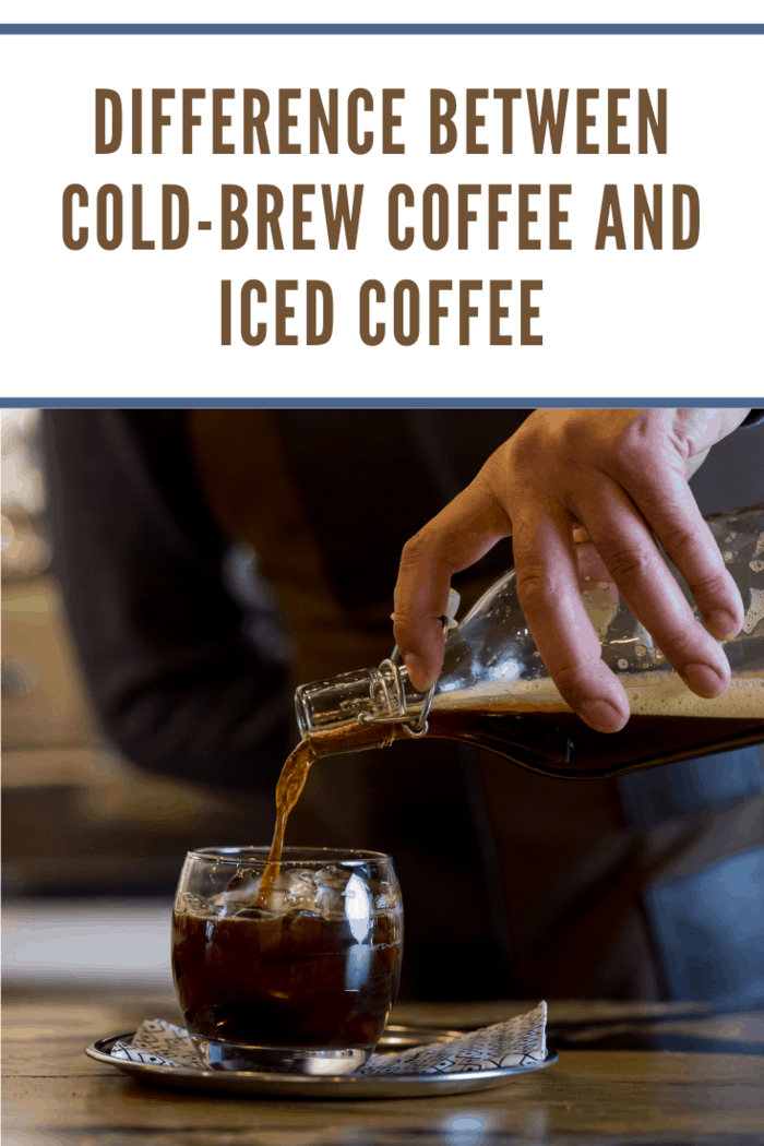 Cold brew coffee on cafe table