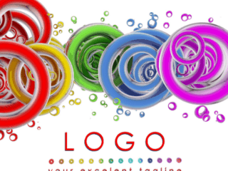 blank for unusual and beautiful logo. path includes