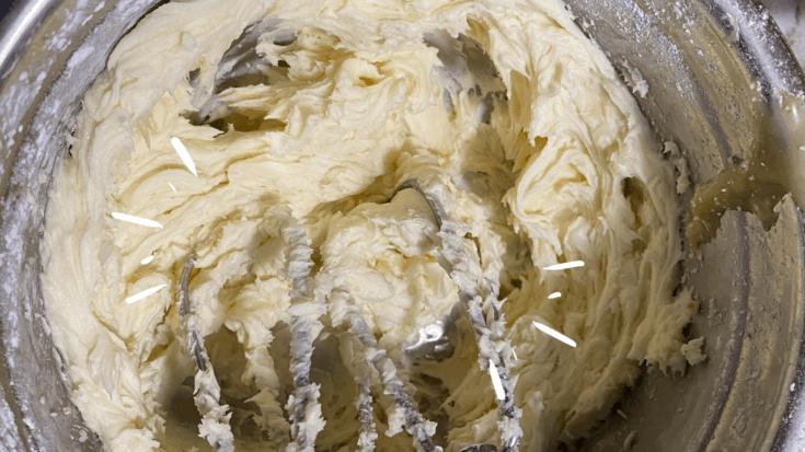 cream butter and sugar