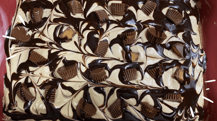 drizzle with chocolate syrup