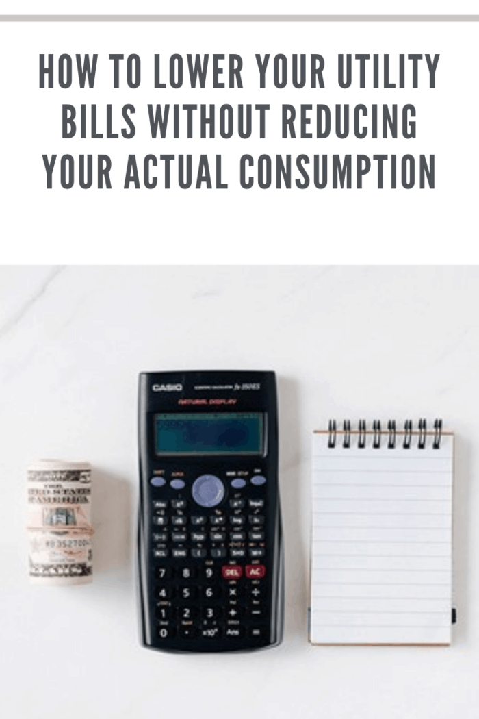 roll of money, calculator and notepad with pen