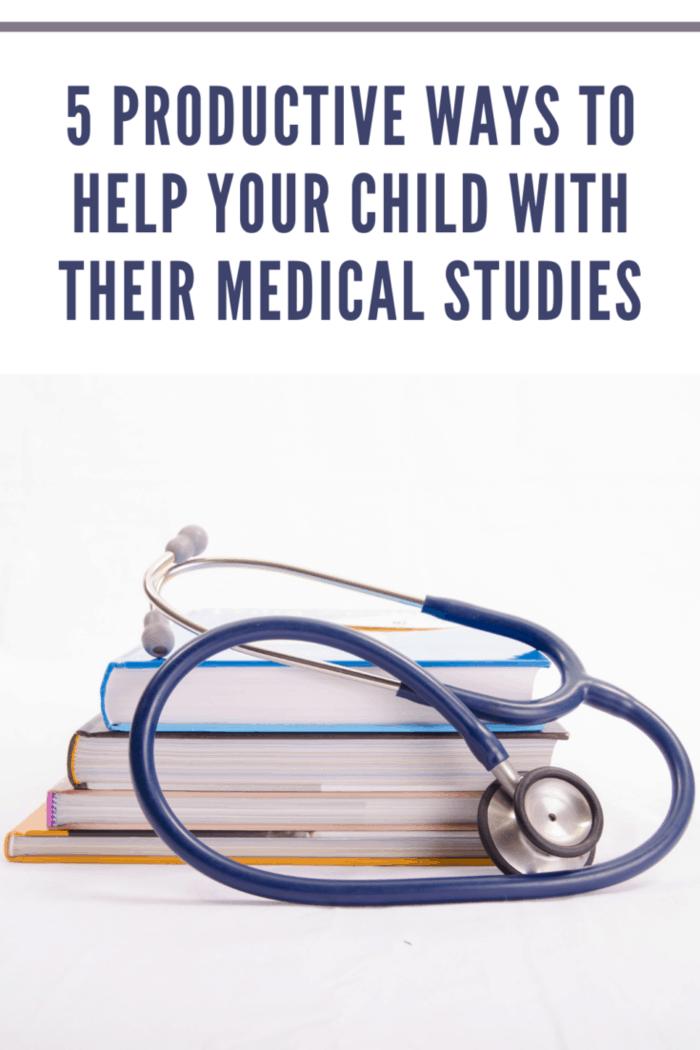 Stethoscope with studybooks