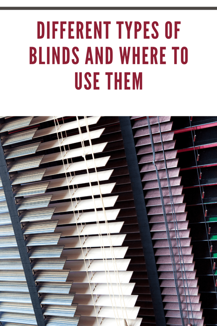 Venetian blinds and various colors