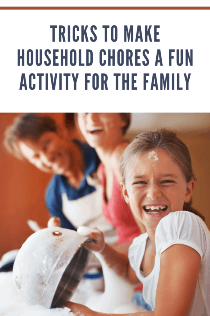 family making chores fun