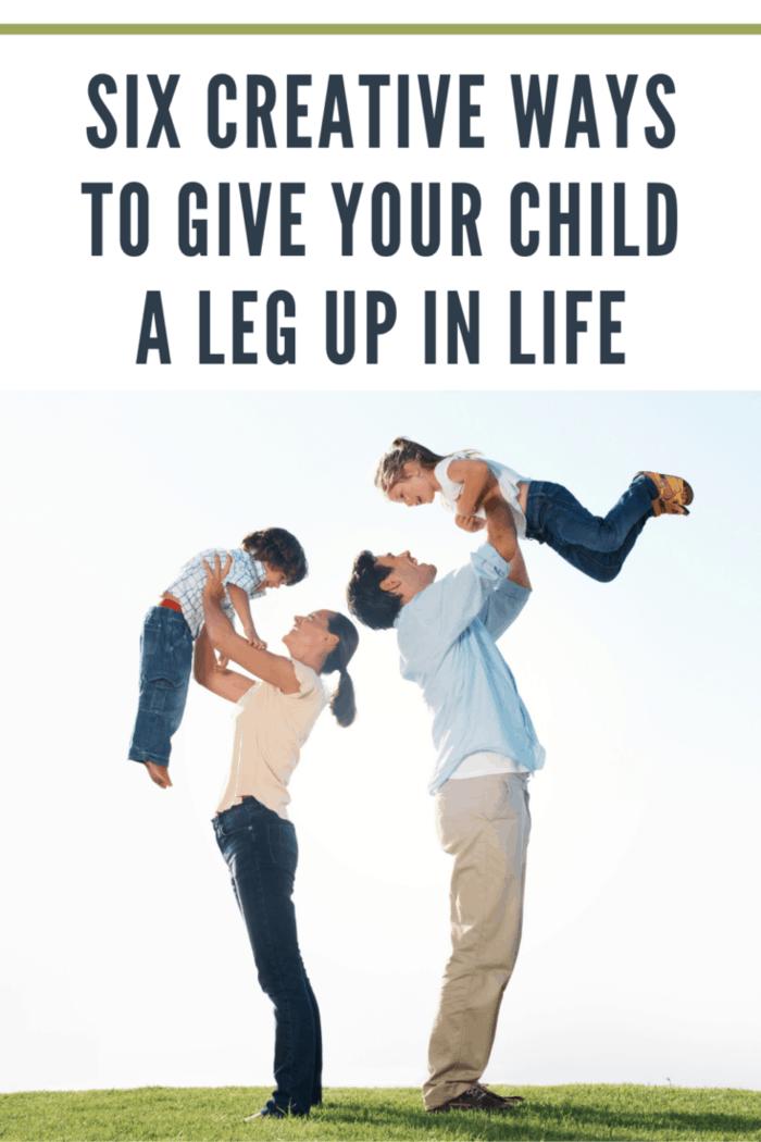 Happy parents with kids