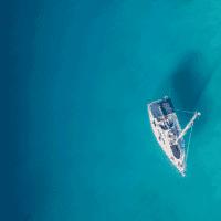 sail boat in still water