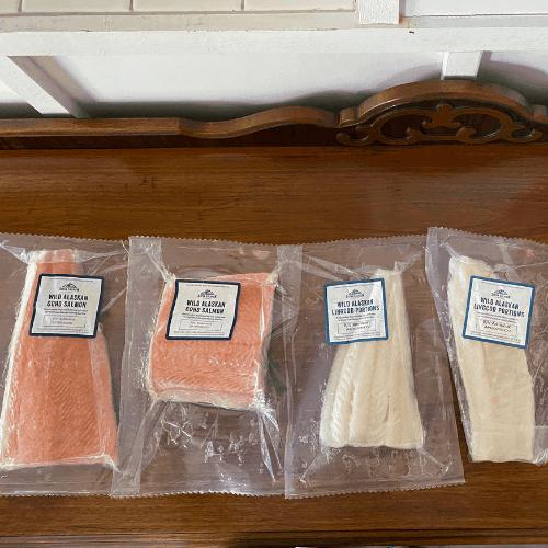 sitka salmon shares fresh lincod and salmon
