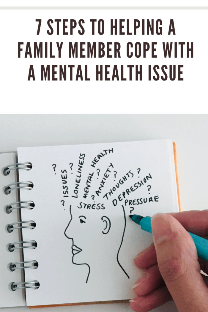 Person illustrating mental health issues